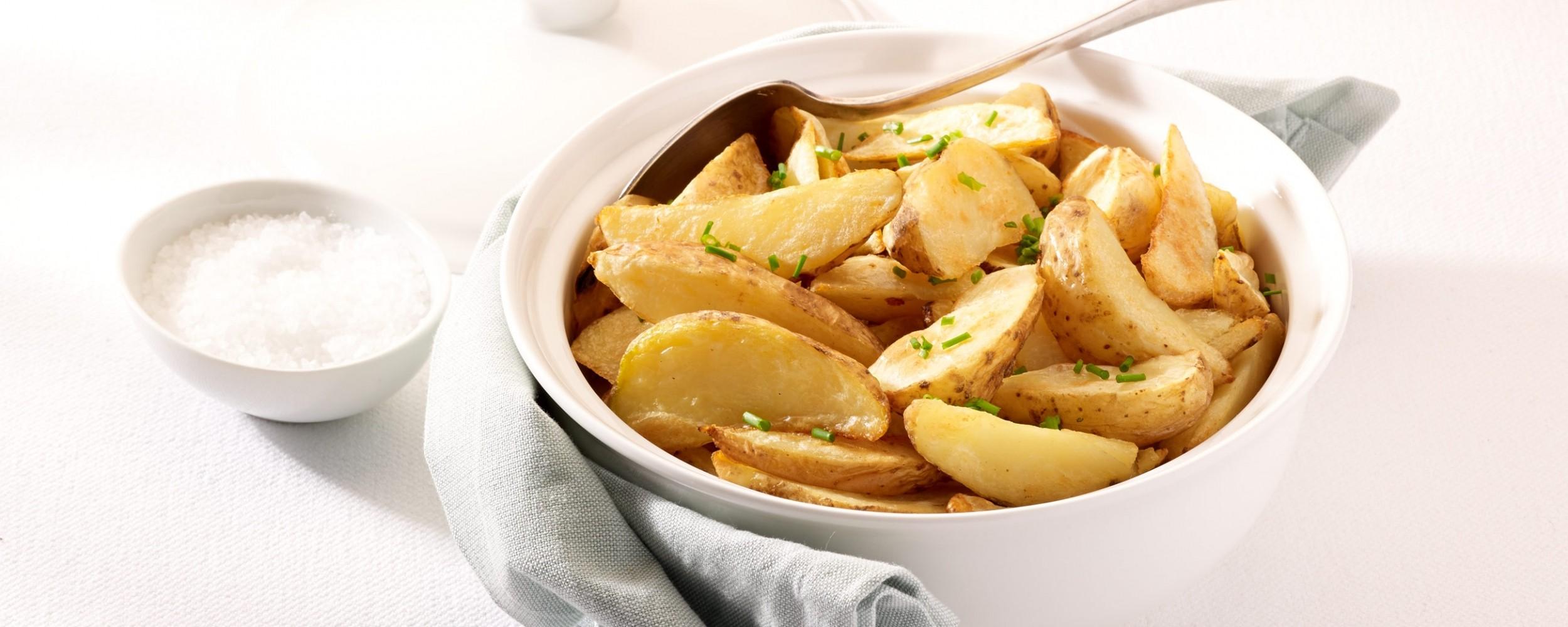 Kartoffelecken mit Schale