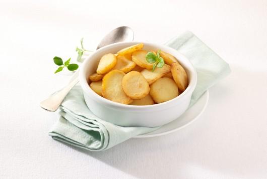 Organic potato slices