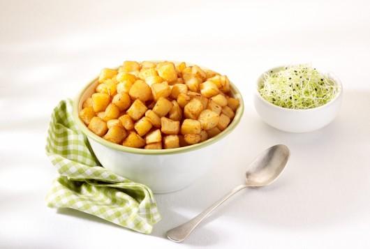 Pommes de terre bio en petits cubes