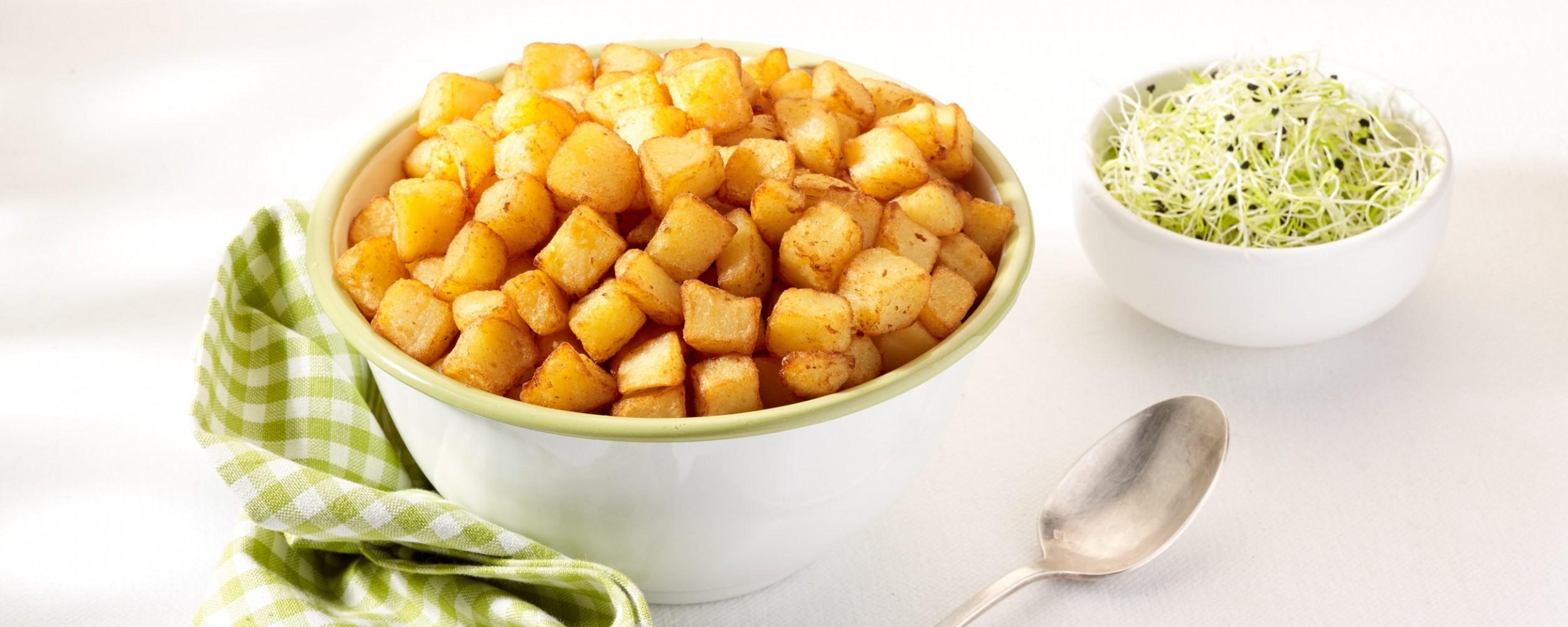 Bio aardappelblokjes